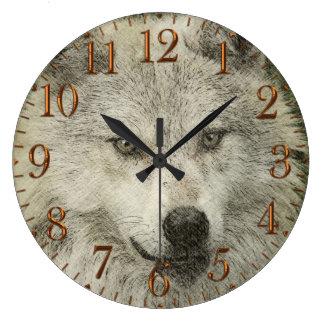 Reloj de plata del dibujo del ejemplo del lápiz de