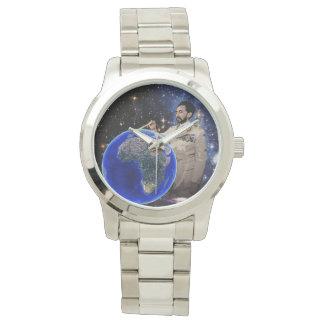 Reloj de plata para hombre de Etiopía del reggae