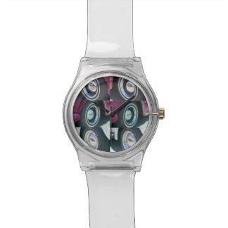 Reloj de plata reflector de las lunas May28th