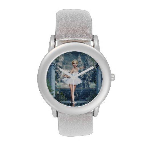 Reloj de princesa Ballerina Glitter de la nieve