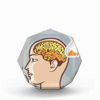 Reloj de proceso de pensamiento del cerebro y de