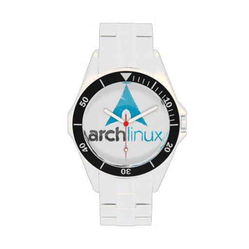 Reloj de Qaurtz del logotipo de Linux del arco