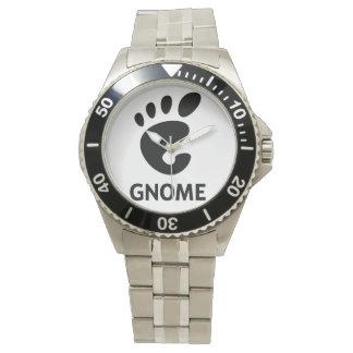 Reloj de Qaurtz del logotipo del GNOMO