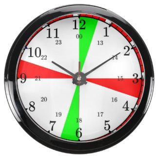 Reloj de radio del sitio de la nave relojes aqua clock