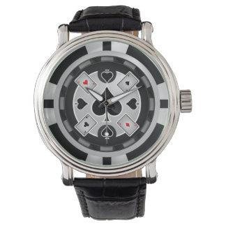 Reloj de reloj de pared de la ficha de póker del