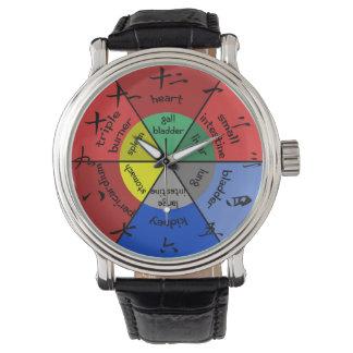 Reloj de reloj del órgano de la acupuntura