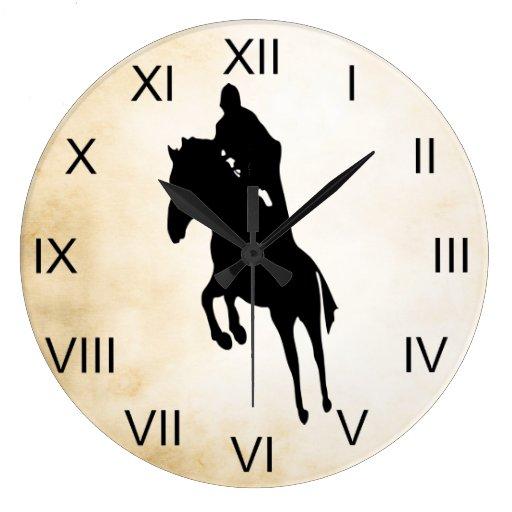 Reloj de salto del caballo de la silueta del estil