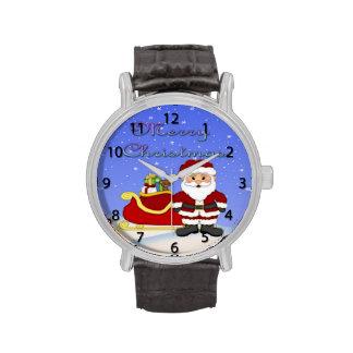 Reloj de Santa de las Felices Navidad