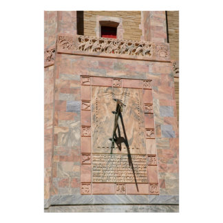 Reloj de sol 2 de la torre de Bok Póster