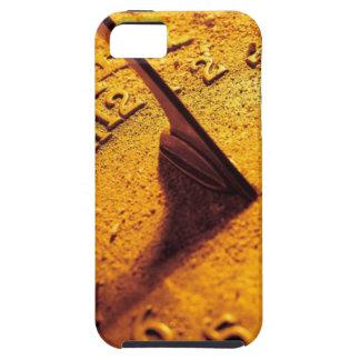 Reloj de sol de oro funda para iPhone SE/5/5s