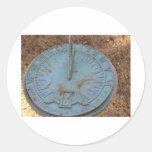 Reloj de sol pegatina redonda