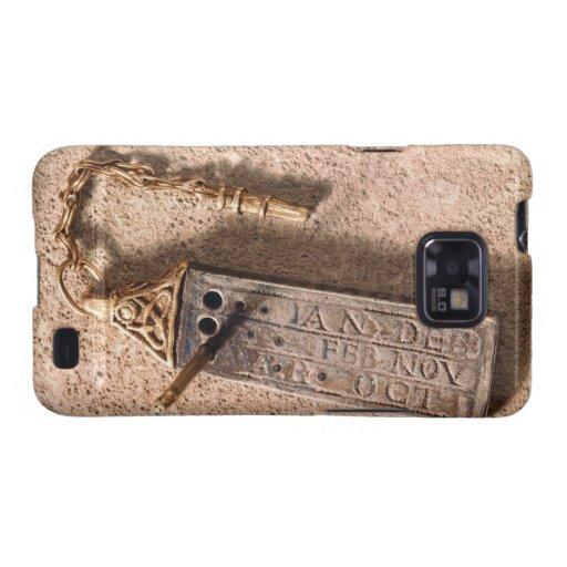 Reloj de sol, plata y oro portátiles, siglo X (d Samsung Galaxy S2 Carcasas
