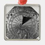 Reloj de sol portátil, del castillo 1756 de Sierk Adorno Navideño Cuadrado De Metal