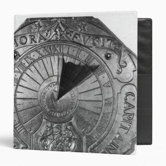 """Reloj de sol portátil, del castillo 1756 de Sierk Carpeta 1 1/2"""""""