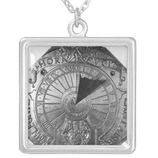Reloj de sol portátil, del castillo 1756 de Sierk Colgante Cuadrado