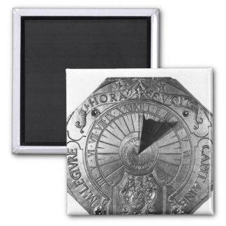 Reloj de sol portátil, del castillo 1756 de Sierk Imán Cuadrado