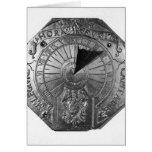 Reloj de sol portátil, del castillo 1756 de Sierk Tarjeta De Felicitación