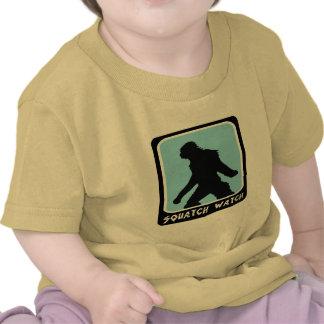 Reloj de Squatch - cazador de Sasquatch Bigfoot Camiseta