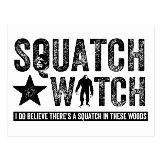 Reloj de Squatch - creo Postal