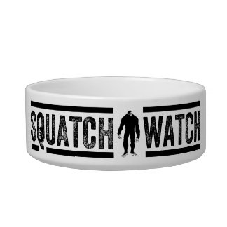Reloj de Squatch - diseño flaco del cazador de Big Comedero Para Mascota