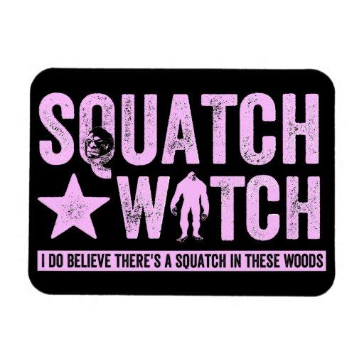Reloj de Squatch - letras apenadas rosa del Grunge Imán