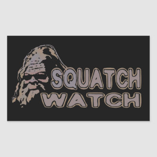 Reloj de Squatch - Sasquatch fresco hacer frente Rectangular Pegatinas