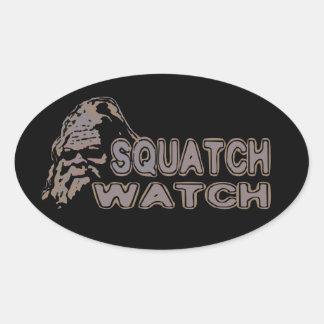 Reloj de Squatch - Sasquatch fresco hacer frente Calcomanía Ovaladas Personalizadas