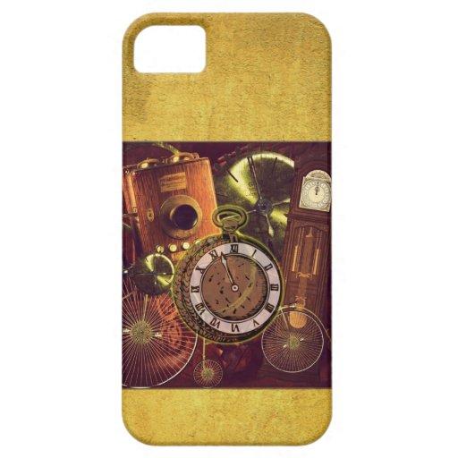 Reloj de Steampunk en el caso del iphone de la iPhone 5 Carcasas