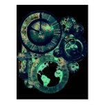 Reloj de Steampunk Postales