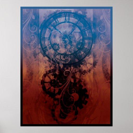 Reloj de Steampunk Posters