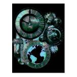 Reloj de Steampunk Tarjeta Postal
