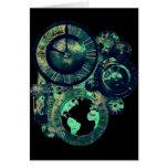 Reloj de Steampunk Tarjetón