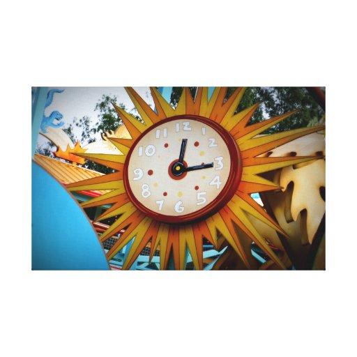 Reloj de Sun Lona Estirada Galerias