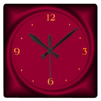 Reloj de Swirl>Wall de la frambuesa