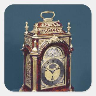 Reloj de tabla, c.1750 pegatina cuadrada