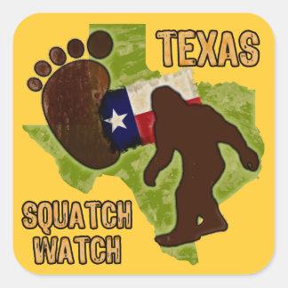 Reloj de Tejas Squatch Calcomania Cuadradas Personalizada