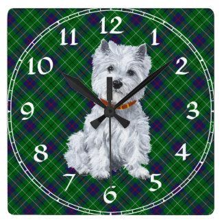 Reloj de Terrier blanco de montaña del oeste