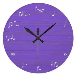 Reloj de tiempo de la nota de la música - púrpura