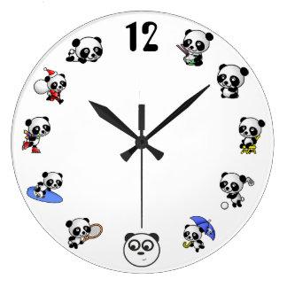 Reloj de tiempo de la panda