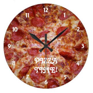 Reloj de tiempo de la pizza de salchichones