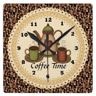 Reloj de tiempo del café