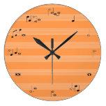 Reloj de tiempo del músico - naranja y blanco