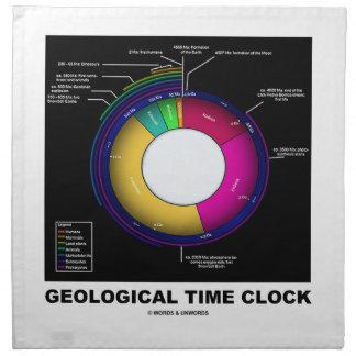 Reloj de tiempo geológico (geología) servilletas de papel