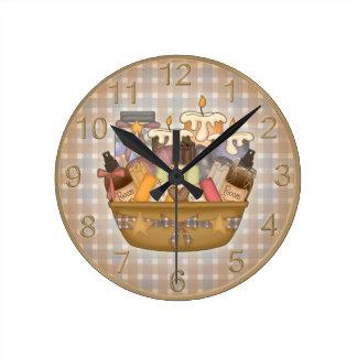 Reloj de tiempo hermoso del baño
