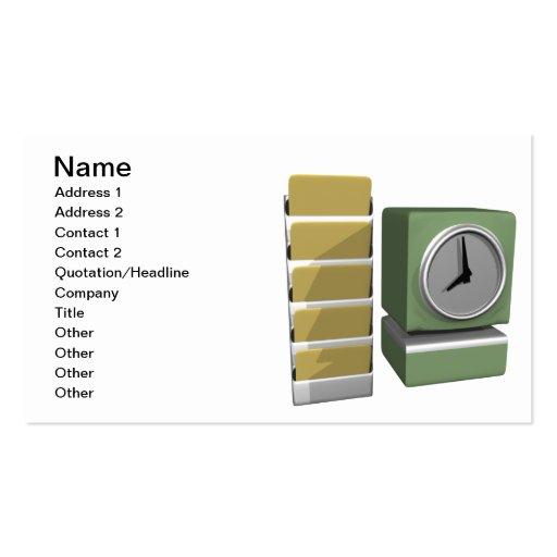 Reloj de tiempo tarjetas de visita