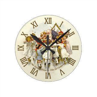 Reloj de tiempo viejo del padre