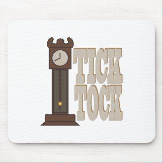 Reloj de Tock de la señal Mousepad