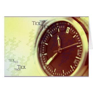 Reloj de Tock de la señal Tarjeta Pequeña