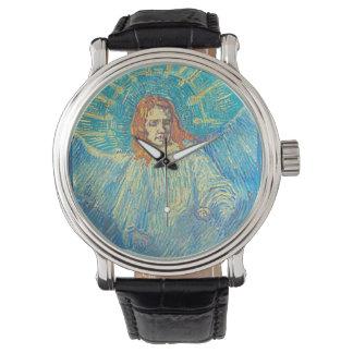 """Reloj de un ángel de Van Gogh """"media figura"""""""