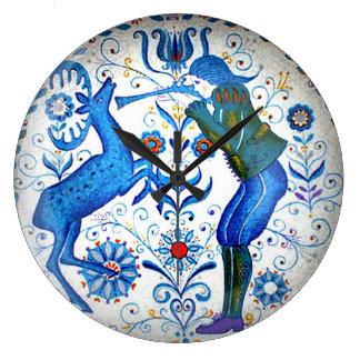 Reloj de wall del tiempo de las elegancias